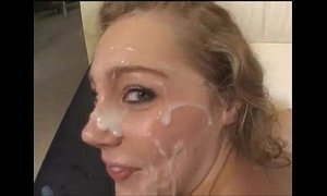 Misty May gets fucked and facialized by many loads