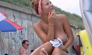 Good french woman at the beach