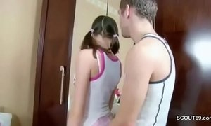 Bro Seduce Petite Step-sis to First Assfuck and Facial