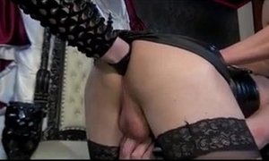 Two Sissy's brutal fucked