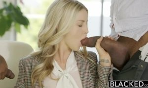 BLACKED Perfect Blonde With 2 Monster BBCs