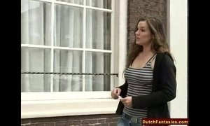 Dutch Teen Brunette Hardcore Lessons