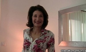 Grandma's libido gets fired up by the dirty photographer