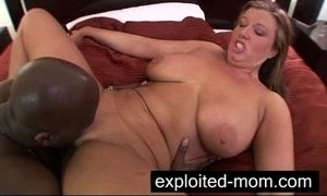 Busty mature milf w Big Tits in Amateur interracial Video
