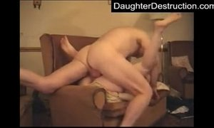 Daughter hatefucked by old man