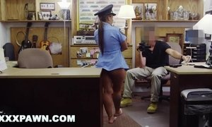 Sean Lawless Fucks Ms. Police Officer In Backroom