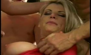 This mom loves to be gangbanged hard