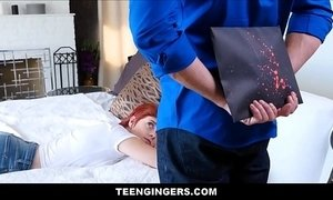 Cute Teen Red Head Ginger Stepdaughter Birthday Fuck