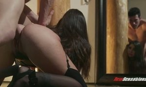 Kinky dude fucks face and muff of sex-appeal babe Karlee Grey