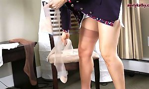 Milf Stewardess in Stockings