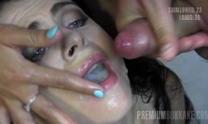 Young Cum-Eating Slut Gets More Then 50 Facial Cumshots