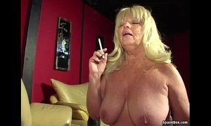 cock, granny, hardly fucked, smoking, titted mature